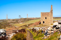 Wheal Owles Cornwall. Wheal Owles at Botallack used as the filming  location of the ficticious Wheal Leisure in the 2015 TV series Poldark Royalty Free Stock Photography