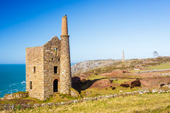 Wheal Owles Cornwall. Wheal Owles at Botallack used as the filming  location of the ficticious Wheal Leisure in the 2015 TV series Poldark Royalty Free Stock Image
