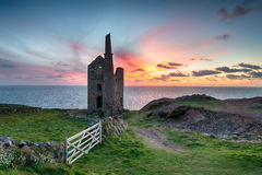 Wheal Owls Mine. At Botallack near St just on the Cornwall coast Stock Image