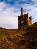 Wheal Prosper - Rinsey - Cornwall. Wheal Prosper Engine House on Rinsey Cliff just north of Porthleven in Cornwall, preserved and managed by the National Trust royalty free stock image