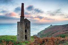 Wheal Prosper Tin Mine. At Rinsey on the Cornwall coast stock images