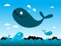 Whealsprong over Oceaan stock illustratie
