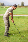 Whealty golf player Stock Image