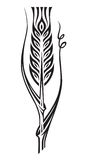 Wheat. Monochrome illustration of ear of wheat Royalty Free Stock Photo