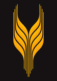 Wheat 2. Vector illustration Wheat icon 2 Stock Images