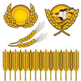 Wheat. Clipart of wheat done in vector shapes Stock Image