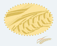 Wheat badge Stock Images