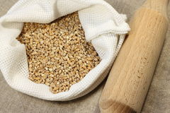 Wheat in bag Royalty Free Stock Images