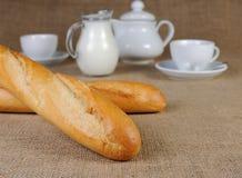 Wheat baguette Stock Photos