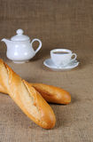 Wheat baguette Royalty Free Stock Images