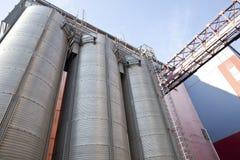 Wheat Barn. Row of wheat barns at the mill Stock Photo