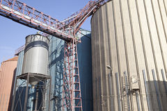 Wheat Barns. Row of wheat barns at the mill Royalty Free Stock Image