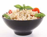 Wheat,basil and tomato Stock Photography