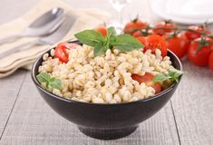 Wheat,basil and tomato Royalty Free Stock Photo