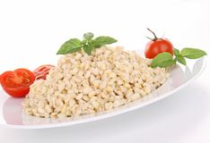 Wheat,basil and tomato Royalty Free Stock Photos