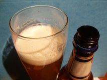 The wheat beer. A glass of wheat beer Stock Images