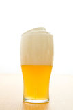 Wheat beer in a glass Royalty Free Stock Images