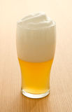 Wheat beer in a glass Stock Images