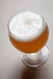 Wheat beer on gray Royalty Free Stock Image