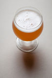 Wheat beer on gray Stock Images
