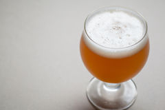 Wheat beer on gray Stock Photography