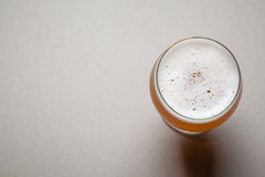 Wheat beer on gray Royalty Free Stock Photo