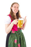 Wheat beer tastes very good Stock Images