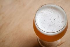 Wheat beer on wood Royalty Free Stock Photo