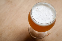 Wheat beer on wood Royalty Free Stock Images