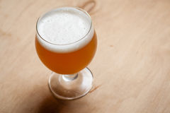 Wheat beer on wood Stock Images
