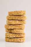 Wheat biscuit breakfast Royalty Free Stock Photo