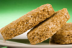 Wheat biscuit breakfast Royalty Free Stock Images