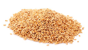 Wheat in bowl isolated Royalty Free Stock Images