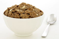 Wheat bran flakes cereal with rolled oats Royalty Free Stock Image