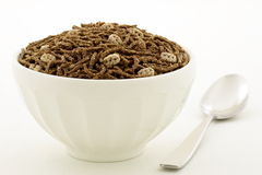 Wheat bran and flax cereal breakfast Royalty Free Stock Images