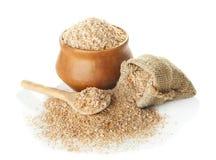 Wheat bran  on white Royalty Free Stock Photos