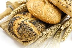 Wheat and bread Stock Photos