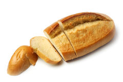 Wheat bread. On a white background Stock Images