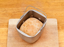 Wheat bread baked in machine Royalty Free Stock Image