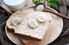 Wheat bread with banana Royalty Free Stock Image