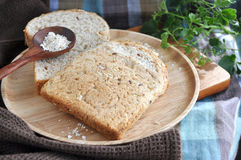 Wheat bread for breakfast Royalty Free Stock Images