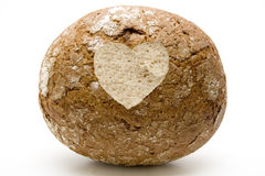 Wheat bread with dear symbol Stock Photo