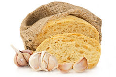Wheat bread with garlic Royalty Free Stock Photos
