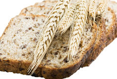 Wheat bread and grains and ears Royalty Free Stock Photography