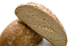 Wheat bread halves Royalty Free Stock Photo