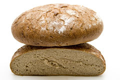 Wheat bread halves Stock Photo