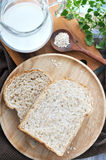 Wheat bread with milk and oat Royalty Free Stock Photo