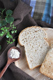 Wheat bread with oat Stock Photo