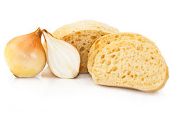 Wheat bread with onion Royalty Free Stock Photography