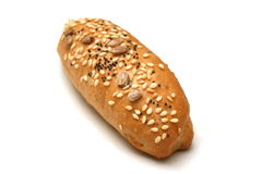 Wheat bread roll stock photo